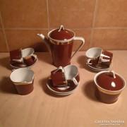 Hollóházi art deco kávés készlet