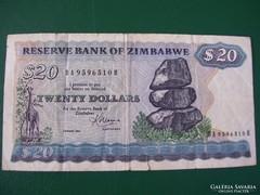 Zimbabwe 20 Dollár 1983.