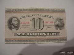 Dánia 10 Kroner 1936.