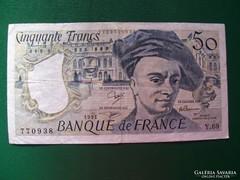 Franciaország 50 Francs 1991.
