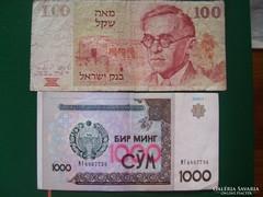 Külföldi bankjegyek 2db.