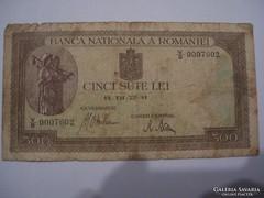 Románia 500 Lei 1941.