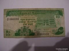 Mauritius 10 Rupees 1985.