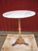 Antik öntöttvas asztal...márványlapos(01)