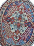 Gyönyörű szumák kilim ovális kézi szőt gyapjú szőnyeg 120x95