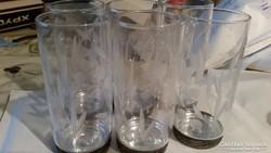 6db kristály pohár fém talpal