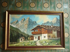 Olaj-farost festmény..74*50cm