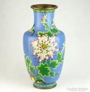 0K739 Antik hatalmas tűzzománc váza 39 cm