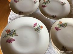 MZ antik porcelán süteményes 1+6
