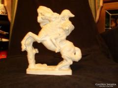 Napóleon ritka lovas szobor szépség 26X15 cm-es