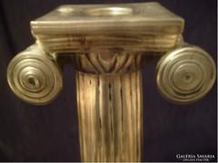 Ion oszlopos gyertyatartó 32,5 cm ezüstözött
