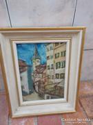 Festmény - olaj 33x27 cm