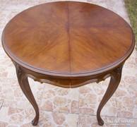 Chippendale barokk faragott szalon asztal kihúzható