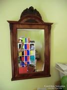 Egyedi faragott fejrésszel ónémet tükör felújított