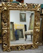 Antik tükör, faragott florentin keretben XIX. század