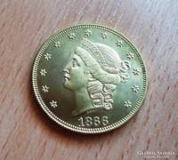 USA ARANY 20 DOLLAR 1866 U.P.