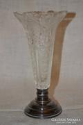 Ezüstözött talpú váza  ( DBZ 0070 )