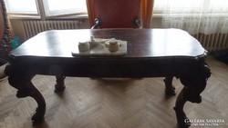 Antik íróasztal, karosszékkel