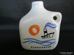 Ritka Zsolnay porcelán Dunakanyar szuvenír