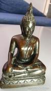 Különlegesen szép, Buddha, bronz színű resin szobor