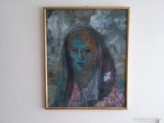 Conrad Pál olaj festmény