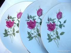 Thun porcelán, rózsás tányérkészlet
