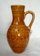 Mázas kerámia kis bokály, 16 cm, Kispest GRÁNIT