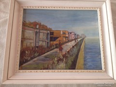 Art deco Bauhaus festmény akvarell Különleges