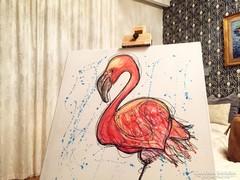 Modern Flamingo festmény