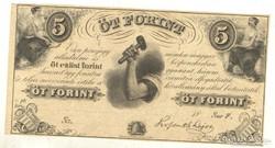 5 forint 1852. Kossuth.