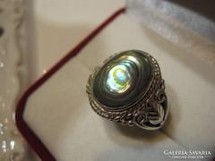 Abalone kagylós filigrán ezüst gyűrű