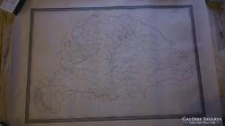 Térkép 1877 ből 106X76,5cm