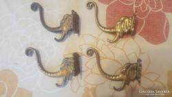Elefántfejes réz fogas, akasztó, fali fogas