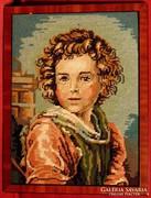 Barokk kor I. - Nagyon igényesen elkészített gobelin1969-ből