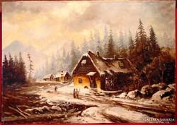 J.Gabriell / Roskadozó vízimalom - Magas kvalitású régi kép