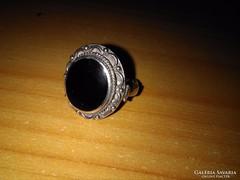LEÁRAZVA!!Régi ónix köves pecsét gyűrű