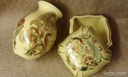 Zsolnay perzsa bonbonier és váza