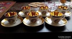 Bohemia porcelán kávéskészlet.
