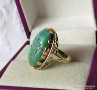 14 k arany gyűrű valódi türkizzel - 8 gramm - CSODÁS!