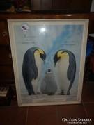 Régi nagyméretű pingvines plakát