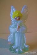 Mennyből az angyal,üveg kézimunka