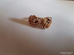 14K arany csavart fülbevaló