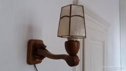 Falikar, fali lámpa fából