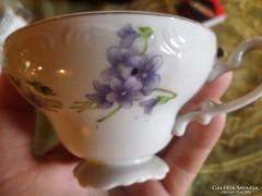 Hibátlan , finom , ibolyás teáscsésze