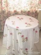 Csodaszép vintage piros rózsás függöny párban