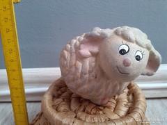 KIÁRUSÍTÁS! Kerámia Húsvéti bárányka szép hibátlan