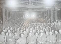 I.világháborús ritka, üvegre készített fotó