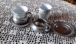 Két személyes kávés csésze. Ritkaság