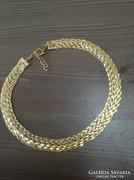Aranyozott eüst olasz nyaklánc, új