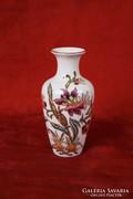 Zsolnay virágos váza (16 cm magas)
